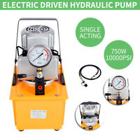 Electric Driven Hydraulic Pump Single Acting Manual Valve 220V