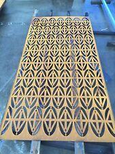 Decorative Garden Metal Fence Screen 'Diamond Eye' 2400 X 1200 Corten Steel