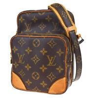 Auth Louis Vuitton Amazon Shoulder Bag Monogram Leather Brown M45236 88BP197