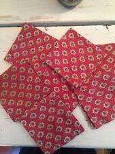 Pierre Deux RASPBERRY 7 COCKTAIL Napkins Cotton VINTAGE SOULEIADO les olivades