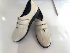 Footflex Sandali in pelle blu cuscino suola interna Cinturino In Velcro Taglia 39