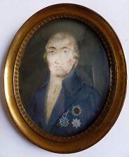 Portrait Miniature Révolution 1° Empire Plaque Ordre Médaille Medal France