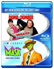 THE MASK / DUMB & DUMBER unrated (Jim Carrey) -  Blu Ray - Sealed Region free