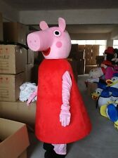 Pink Peppa pigs Mascot Costume adult size dress Hollween Xmas dresses party gift