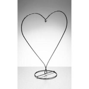 Heart Shaped Display Metal Stand Friendship Ball Heart Ornament Sienna Black