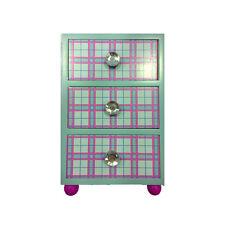 FROZEN mini commode en bois bleu clair avec 3 tiroirs boutons de avec