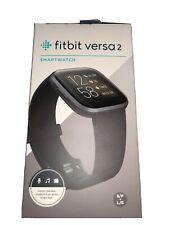 Fitbit Versa 2 Health and Fitness Smartwatch, Black/Carbon Aluminum #Fb507Bkbk