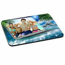 Personalised Photo Dolphines Theme 5mm Thick Rectangle Mouse Mat/Pad