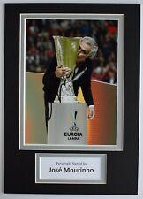 Jose Mourinho Signed Autograph A4 photo display Manchester United AFTAL COA