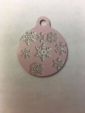 Christmas Snowflake Winter Themed Pet Charm Dog Cat Tag for Your Pet, Pink 1.25�