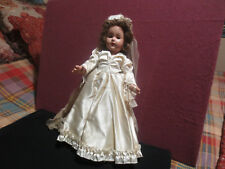 "LOVELY EFFANBEE ANN SHIRLEY DOLL IN ORIGINAL WEDDING DRESS 15 "" COMPOSITION"
