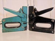 TWO-(2) VINTAGE BOSTICH T5 STAPLER HEAVY DUTY STAPLE GUNS MADE IN USA !!!!