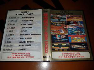 ## SEGA Mega Drive - 10 in 1 King´s Card / MD Spiel ##