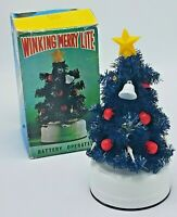 Vintage Winking Merry Light  LANTERN Christmas Tree Japan BOX Works