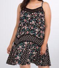 9eedddcaa6d Torrid Mixed Floral Challis Dress Black Size 00 Medium Large or 10  23608