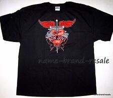 BON JOVI NEW Black Heart Dagger TATTOO Print T-Shirt Unisex Size XXL Rock & Roll