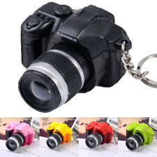Cute Mini Toy Camera Unisex Creative With Flash Light Sound Gift Key Chain Decor