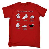 Catriculum Vitae MENS T-SHIRT birthday cat kitty kitten cute funny gift