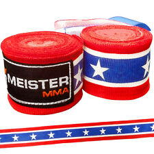 "AMERICAN 180"" SEMI-ELASTIC HAND WRAPS Meister MMA Handwraps Mexican Boxing NEW"