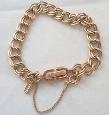 Vintage Monet 1970's Gold Tone Starter Collectible Charm Bracelet Nice Condition