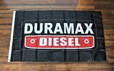 New listing Duramax Diesel Banner Flag 3x5 Black Red Racing Garage Shop Mechanic Chevy Gm