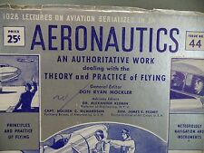 Aeronautics Theory Practice of Flying Issue 44 Civil Military 1942 Book