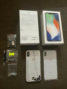 Apple MQAD2HB/A iPhone X 64GB Unlocked Smartphone Silver For Parts