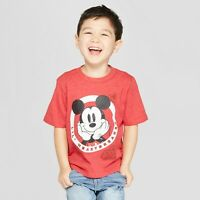 Toddler Boys Disney Mickey Mouse SS T-Shirt Red Valentines Day Lil Heartbreaker