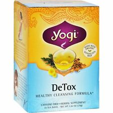 YOGI TEA DETOX, CAFFEINE FREE (16 bags x 1 box) Healthy Cleansing Formula, NEW