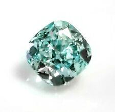 0.37ct Green Diamond - Natural Loose Fancy Intense Blue Green GIA SI2 Cushion