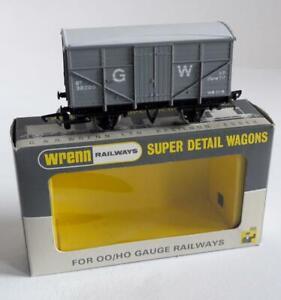 WRENN /RAILWAYS - WAGON (W5058) GWR Y10 8T FRUIT VAN 38200 LIGHT  GREY  (P4 BOX)