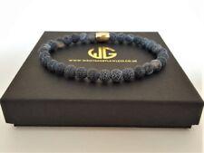 Men's Genuine beaded bracelet all 6mm Blue Vein beads Limited Edition Wristwear