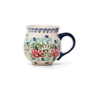 Kugeltasse 300 ml Dekor 70A Handbemalt Neu Bunzlauer Keramik Kugelbecher