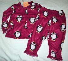 84560317b Gymboree gymmies Invierno Pingüino Franela Pijama púrpura 2T Niñas Nuevo  con etiquetas