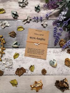 Fox Wish Bracelet, Fox Charm bracelet, Fox Bracelet, Fox Jewelry, Fox Jewellery,