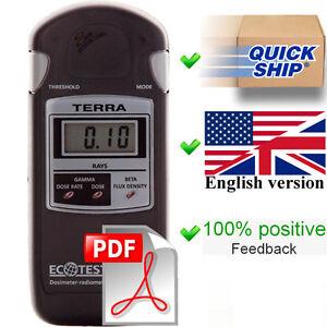 English User Manual (full) + Quick Start for dosimeter Terra MKS 05