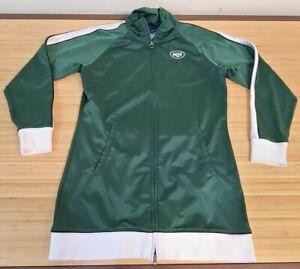 REEBOK New York Jets Green Hoodie Hooded FZ Dress Jacket WOMEN'S