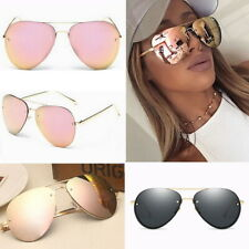 Rose Gold Black Aviator Oversize Sunglasses Polarized Designer Inspired UV400