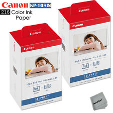 216 Color Ink Paper - 2 Pack Canon KP-108IN sheets for Canon Selphy CP1200