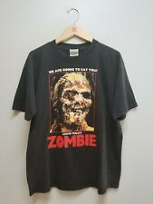 Vintage VTG 90s Lucio Fulci's Zombie T-shirt Horror Cult The Dead Are Among Us!