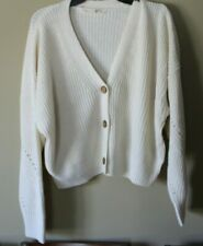 womens,vneck, VANILA STAR,buttonned down knitted,cardigan,long sleeve sweater,XL