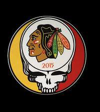 Grateful Dead Chicago Blackhawks Steal Your Face Sticker 5""