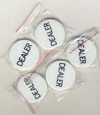 5 Dealer Buttons 2 Inch Texas Holdem Poker Casino, New, Free Shipping
