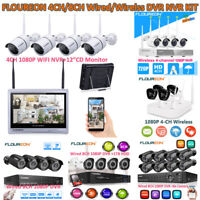 1080P 4/8CH Wireless/Wired HDMI NVR 4x Outdoor Camera Video Home Security System