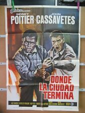 539     DONDE LA CIUDAD TERMINA SIDNEY POITIER JOHN CASSAVETES