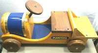 Planters nuts peanuts advertising promotional wood car truck -1970s- 27 inches