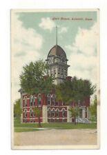 Postcard Iowa IA Court House Atlantic Standard View Card Clock Tower Cass County