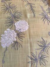 104cm x 36cm VILLA NOVA Norwood Mimosa linen blend curtain fabric remnant