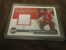 STEVE YZERMAN 2001-02 UD Vintage STANLEY CUP SUPERSTARS GU Jersey SC-SY Mint!