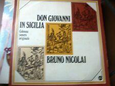 """LP 12"""" OST DON GIOVANNI IN SICILIA BRUNO NICOLAI MODUGNO COVER EX+ VINYL N/MINT"""